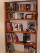 bibliothèque et DVD pièce principale